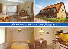 "AK, Nordseeheilbad Büsum, Appartment-Haus ""Jasper"", vier Abb., um 1980"