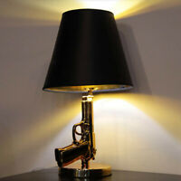 New Modern Gun Table Lamp Desert Eagle Pistol LED Desk light Bedside Lamps
