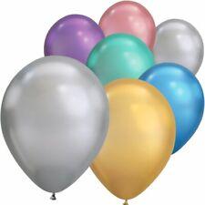 """Platinum Latex Balloons - 30cm (12"""") - Metallic Effect Round Helium Decorator"""