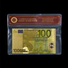 WR 2002-2013 Europe €100 Euros 24K Gold Foil Plated Banknote Collect In COA Case