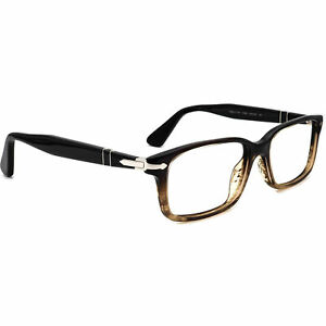 Persol Eyeglasses 2965-V-M 1026 Brown Gradient/Black Italy 55[]18 145 Handmade