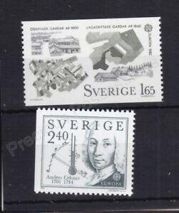 EUROPA MNH STAMP SET 1982 SWEDEN HISTORICAL EVENTS SG 1110-1111