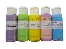 Artiste Acrylic Paint Set Pastels 59ml (Pk 5) Children Kids Art & Craft Paints
