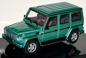 Mercedes Benz G 500 G-Wagon Lwb 1998-2007 Green Metallic 1:43 Autoart