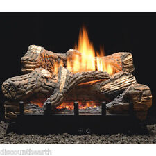 "Flint Hill 18"", 24"" 30"" Vent Free Fireplace Gas Logs COMPLETE REMOTE Start NG LP"