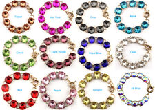 Brand 1.5cm Pop Color Round Faceted Glass Crystal Dot Bracelet for Women Jewelry