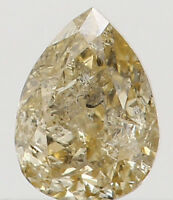 Natural Loose Diamond Yellow Color Pear I3 Clarity 3.60 MM 0.12 Ct L5410