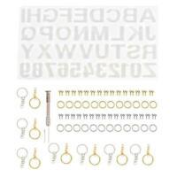 24 Stück Letter Crystal Epoxy Mold Schmuck Anhänger Set L1O0