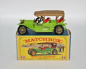 Vintage Matchbox Lesney Models of Yesteryear 1912 Simplex Y-9 w/Box