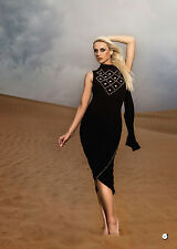 Rock n Karma line from Toronto Canada dress in black and silver studs size L