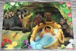 Vintage 1967 Disney 3D Lenticular 4x6 The Jungle Book Postcard Mowgli and Akela