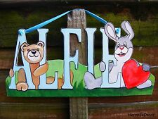 Name plaque- Personalised with any characters and names- Nursery-Doorsign