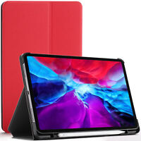 Apple iPad Pro 12.9 2020 Case, Cover, Stand, Smart Auto Sleep Wake - Red