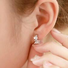 Cubic Jewelry Gift Women Fashion Stud Hoop Earrings Platinum Plated Zircon