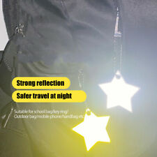 Safety Reflector Pendant for School Bag Backpack Cycling Running 12pcs Stars