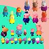 25 Pcs/Set Peppa Pig Family&Friends Rebecca Action Figures Toys Sets Kids Gift