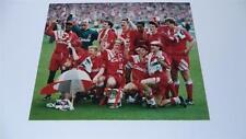 LIVERPOOL FC 1992 FA CUP FINAL IAN RUSH JAN MOLBY & TEAM RARE PRESS PHOTOGRAPH