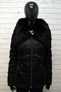 Giacca Donna Max&Co. Giubbotto Taglia 44 Cappotto Nero Pelo Coniglio Jacket