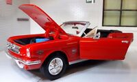 Maßstab 1:24 1964 Ford Mustang Cabrio Cabrio Druckguss Modell Auto 73212 rot