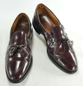 Allen Edmonds Grayson Oxblood Burgundy Mens Leather Loafer Dress Shoes Sz 9.5 D