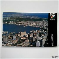 Wellington New Zealand Aerial View Postcard (P557)