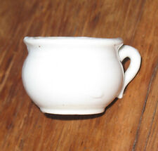 Vintage Dollhouse Size Miniature White Porcelain Ceramic Pottery Cup or Pot