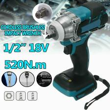 """1/2"""" 18V 520NM Rechargeable Torque Impact Wrench Cordless For Makita Battery"""