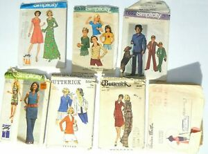 Lot Of 7 Used Vintage Patterns Simplicity Butterick
