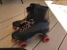 Vintage Roller Derby Mens Black Roller Skates Urethane '28' Wheels Sz.11