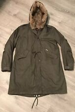 Women's XL Woolrich John Rich & Bros Literary Eskimo Fur Trim Parka Jacket