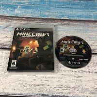 Minecraft - PlayStation 3 Edition (PS3, PlayStation 3, 2014) Free Shipping