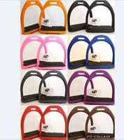 Horse Riding English Safety Stirrups Durable Light Weight Polymer Plastic Saddle