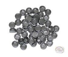 LEGO - 3-Buck Bag Button Tiles x 50 - Metallic Silver - New - (Brick, Build)