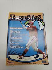Sebastian Valle Signed Clearwater Threshers Times Magazine Vol 5 2011 program