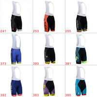 Men's Cycling Bibs Breathable Bib Shorts Quick Dry Pad Riding Bike Short Pants