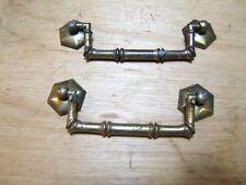 2 Maniglie in ottone DROP Tirare Armadietto Cassetto-ottagonale Lato Piastre - ~ Barile design
