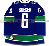 BROCK BOESER VANCOUVER CANUCKS HOME AUTHENTIC PRO ADIDAS NHL JERSEY