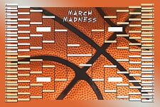 March Madness NCAA College Basketball Tournament Bracket Poster 3ft x 2ft