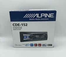 Alpine CDE-152 CD/MP3/WMA Single DIN Car CD Receiver with Bass Engine SQ, Blue