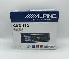 Alpine Cde-152 Cd/Mp3/Wma Single Din Car Cd Receiver with Bass Engine Sq, Blue