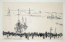 ALBERT MARQUET gravure marine le Port de Marseille bateau paysage méditerranée