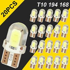 20X T10 194 168 W5W Super White COB LED License Plate Interior Light Bulbs 6000K