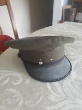 Green Wool military army dress style hat 'Crown Service Cap' size 6 5/8 costume