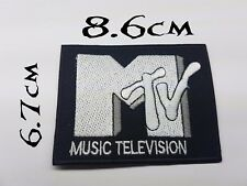 Quality Iron/Sew on MTV patch biker Old school Music Television