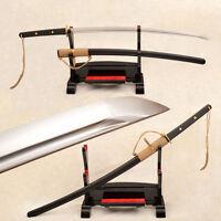 Full Tang Hand Forged Samurai Japanese Sword Katana 9260Spring Steel Blade Sharp
