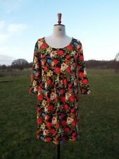 Pretty JOE BROWNS Bright Floral Mix Textured Dress With Stretch Size 18 BNWT