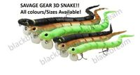 SAVAGE GEAR 3D SNAKE FLOATING PREDATOR SURFACE LURE PIKE ZANDER PERCH BAIT NEW