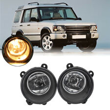2X Front Clear Fog Lights Lamp w/ H11 Bulbs For Land Rover Discovery 2005-2009