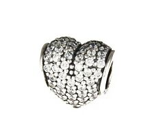 Genuine Pandora Silver and Clear Pave Heart Charm 791052CZ