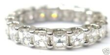 Fine 14Kt Asscher Cut Diamond Eternity Ring 3.00Ct White Gold Sz 5.5